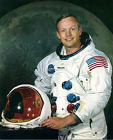 Neil Armstrong, naval aviator and first man on the moon!