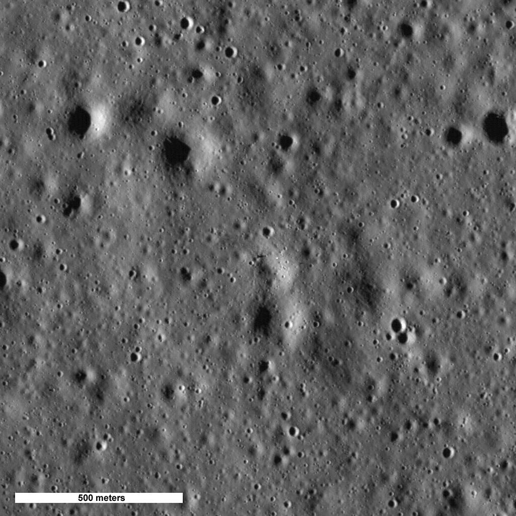 Fotografía de la sonda LRO del sitio donde alunizó el Apolo 15 | NASA