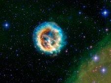 Chandra image of supernova remnant E0102