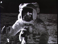 Image from the moon during Apollo 12 mission.