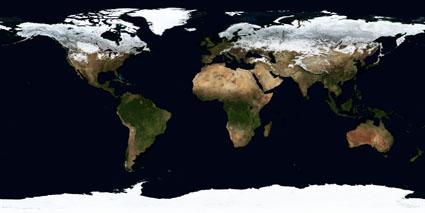Fotografía de La Tierra Marzo 2004