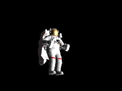 Modelo en 3D de un astronauta