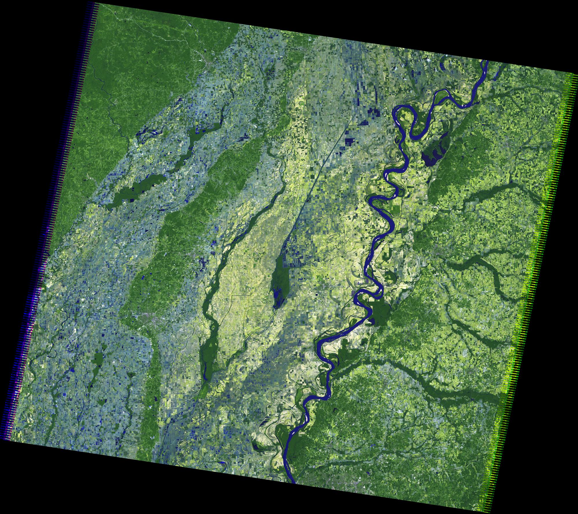 Nasa Satellite Images Display Extreme Mississippi River