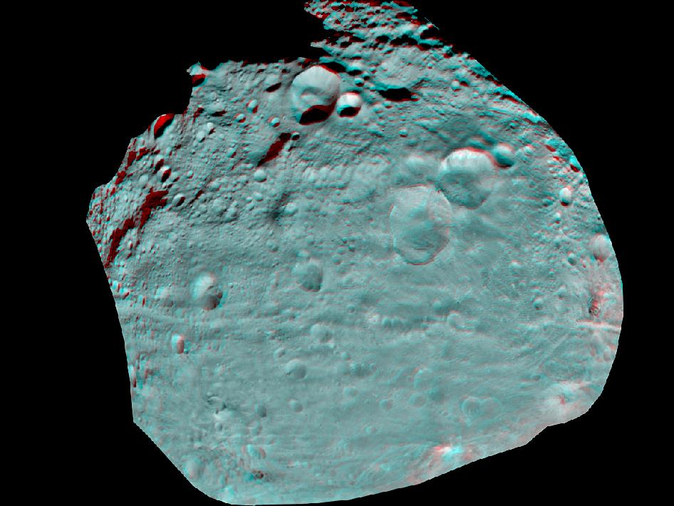 3D Image of Vesta's Equatorial Region