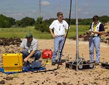 Mars Drill project engineers