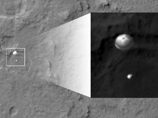 Curiosity Parachute.  NASA.