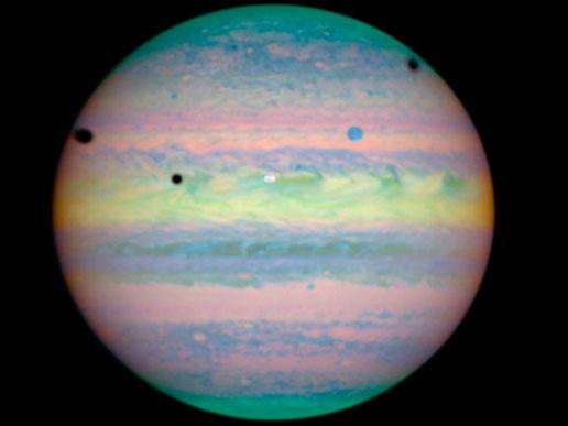 Hubble photo of triple eclipse on Jupiter