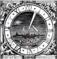 German broadside of comets circa 1600s