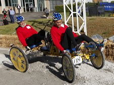 A team from Teodoro Aguilar Mora Vocational High School competes in the 2013 NASA Great Moonbuggy Race.