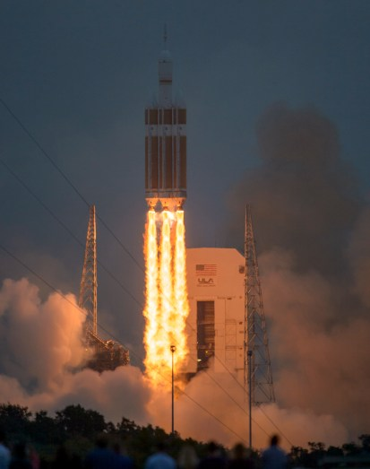 Spacecraft Orion takeoff at Cape Canaveral
