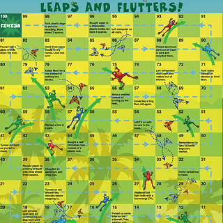 'Leaps and Flutter' board game