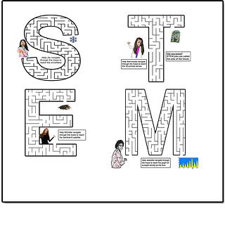Screenshot of STEM maze puzzles
