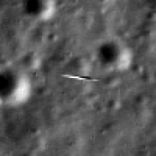 close-up of LRO image of LADEE