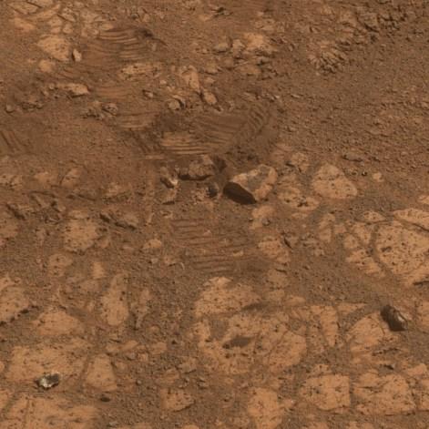 Mars rock known as Pinnacle Island