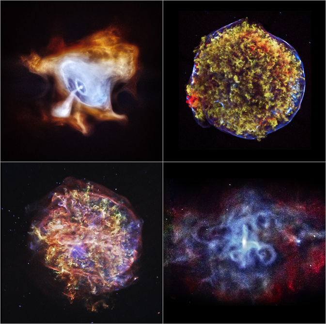Four new Chandra images of supernova remnants