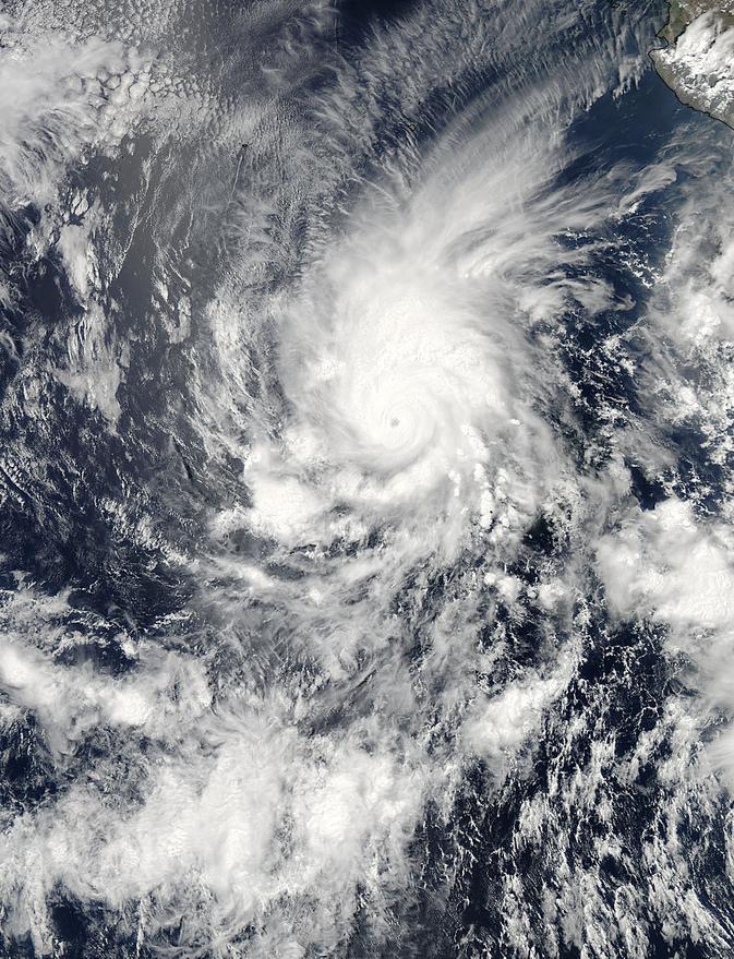 MODIS image of Amanda