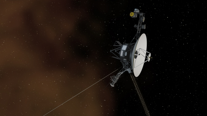 Artist's concept depicts NASA's Voyager 1 spacecraft entering interstellar space