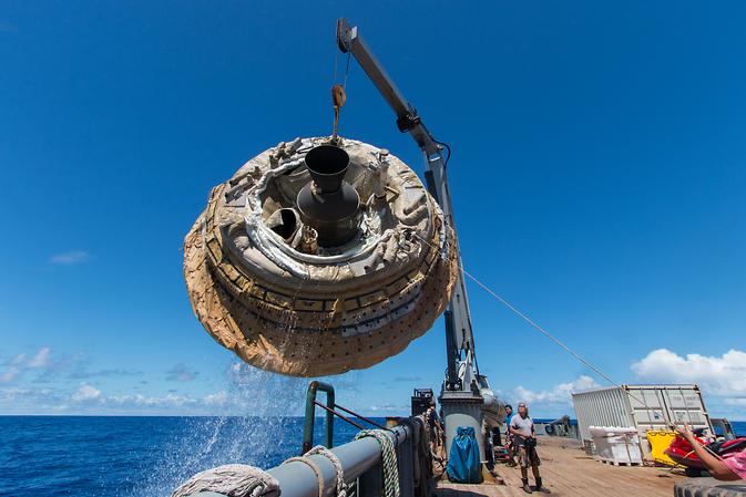 La câteva ore după 28 iunie 2014, testul de Low-Density decelerare supersonic NASA pe deasupra Marinei SUA Pacific rachete Range.