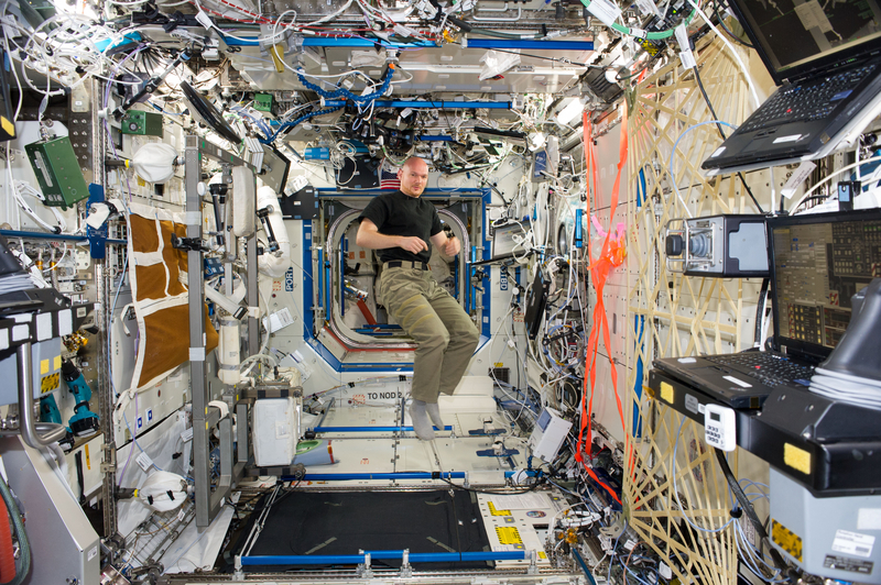 Alexander Gerst Floats Freely NASA