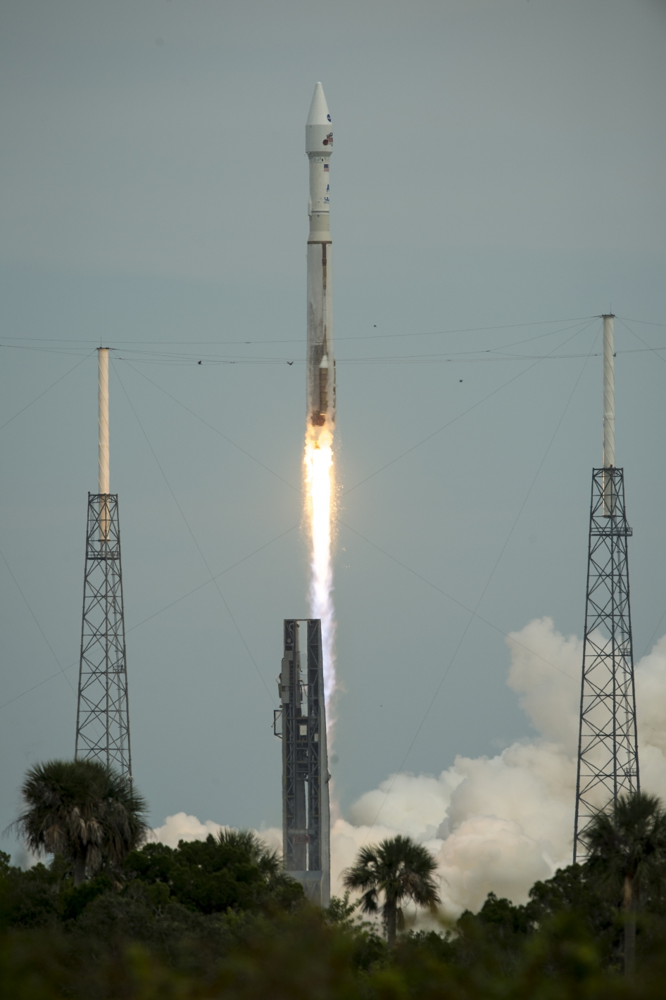 NASA's Mars Atmosphere and Volatile EvolutioN (MAVEN) spacecraft launches aboard a United Launch Alliance Atlas V from the Cape Canaveral Air Force Station Space Launch Complex 41, Monday, Nov. 18, 2013, Cape Canaveral, Florida.