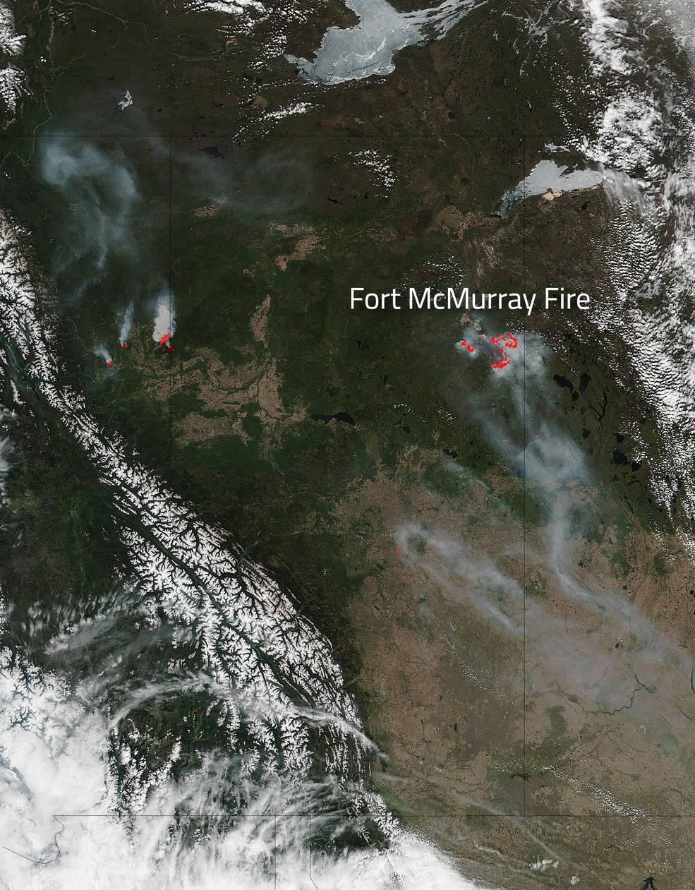 Fort McMurray and other fires in Alberta, Canada on May 15, 2016