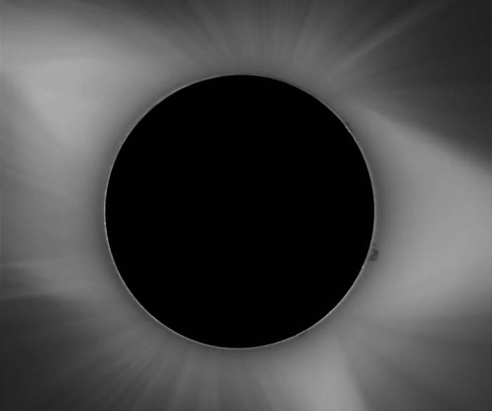 image of solar corona