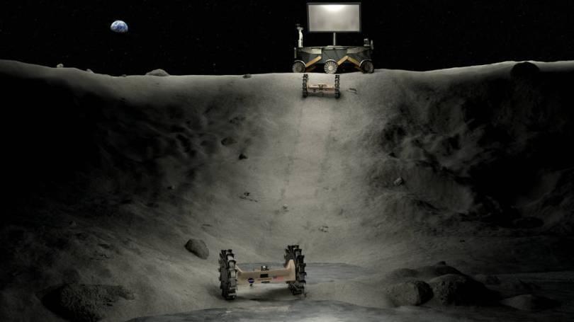 bigidea crater scene v2 updated - NASA divide 1 milhão para 8 Equipes Universitárias em ideias para exploração de crateras escuras da Lua