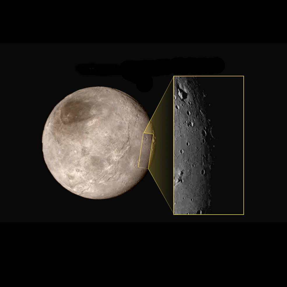 New image of an area on Pluto's largest moon Charon