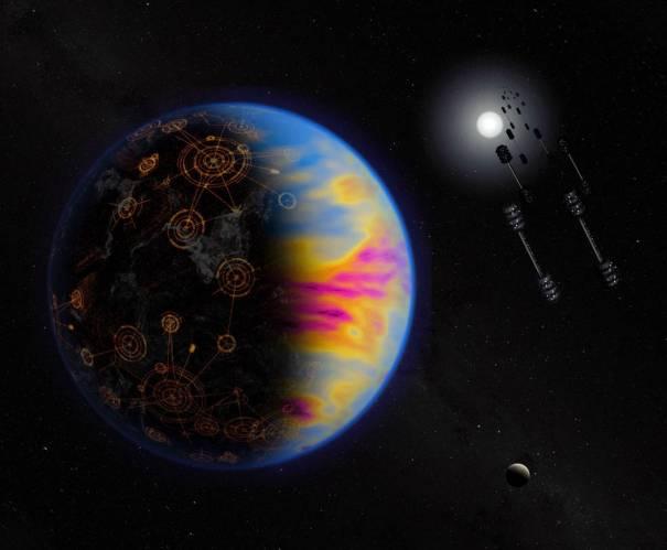 Концептуальный образ индустриальной инопланетной цивилизации