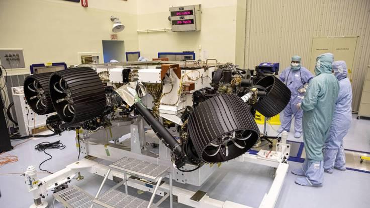 NASA's Mars 2020 rover, now called Perseverance