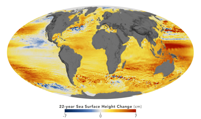 sealevelglobe slr - NASA Watches Sea Level Rise from Space, and its Centers' Windows