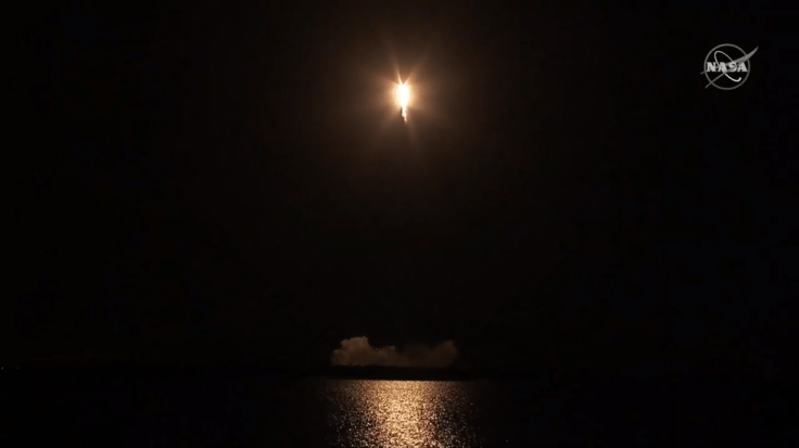SpaceX Dragon cargo spacecraft launches on a Falcon 9 rocket from Space Launch Complex 40