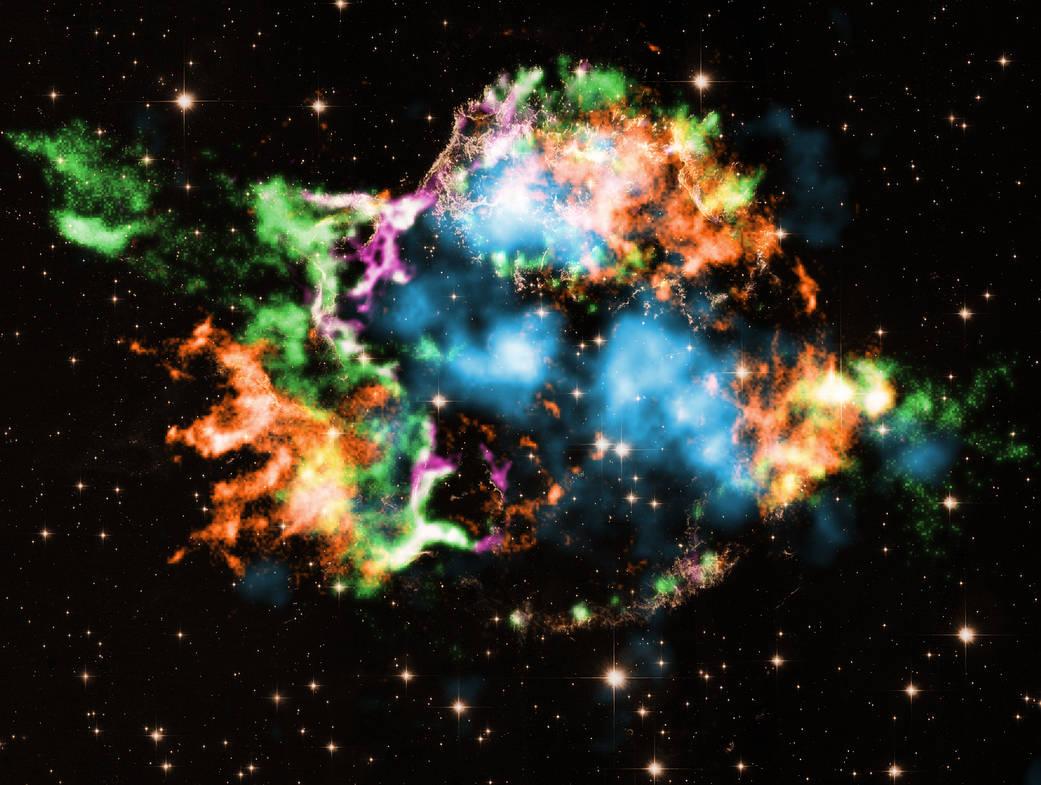 Supernova remnant Cassiopeia A (Cas A),