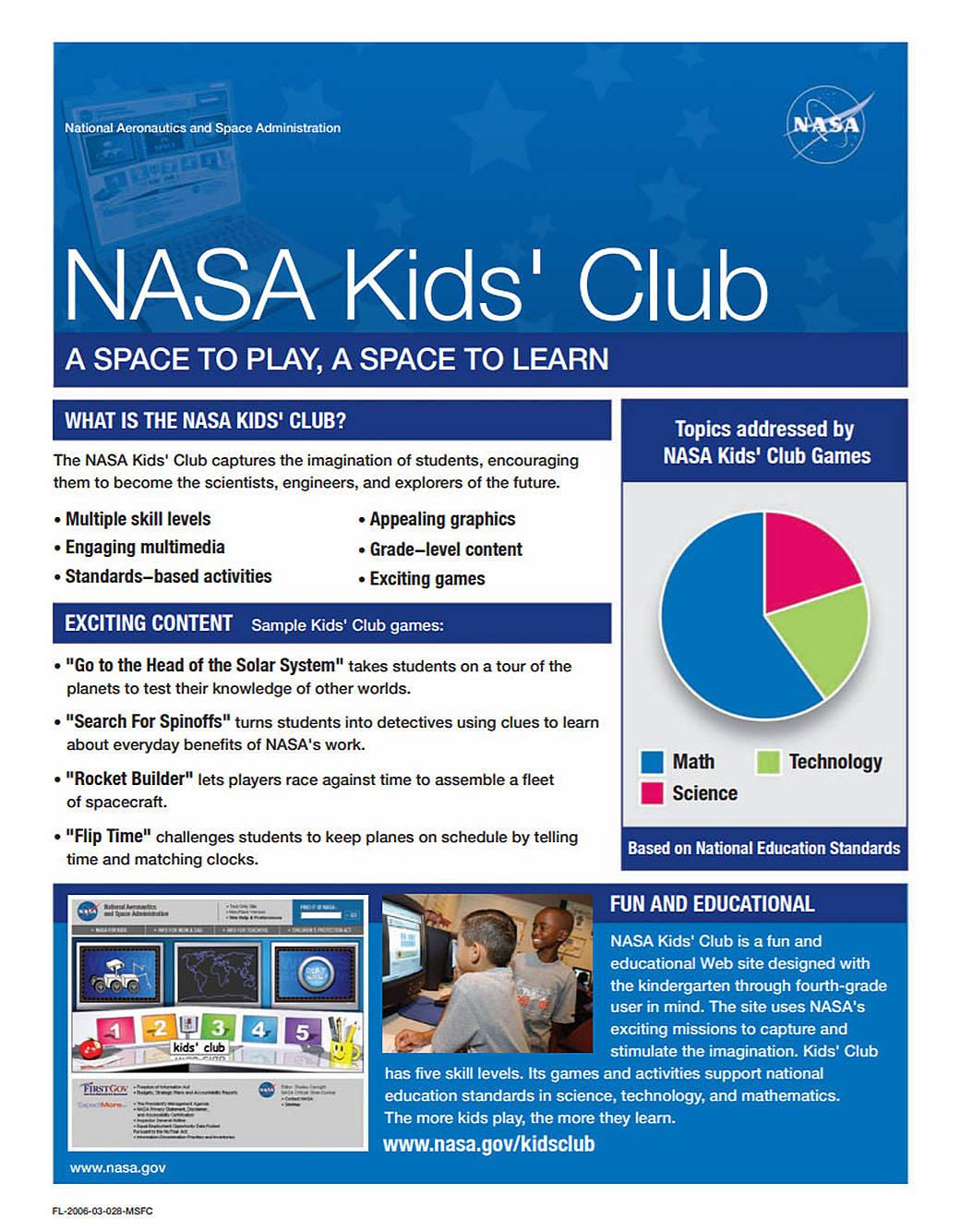 Nasa Kids Club Games