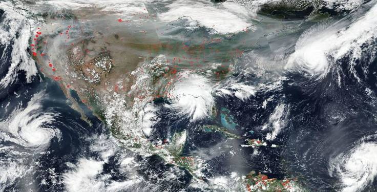 Fires, smoke, and hurricanes converge on the United States