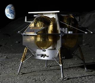 Astrobotic of Pittsburgh has proposed to fly as many as 14 payloads to a large crater on the near side of the Moon.