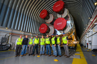 NASA's Barge Pegasus Crew Prepares Space Launch System Rocket Stage for First Voyage