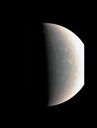 Jupiter's polar cloud tops