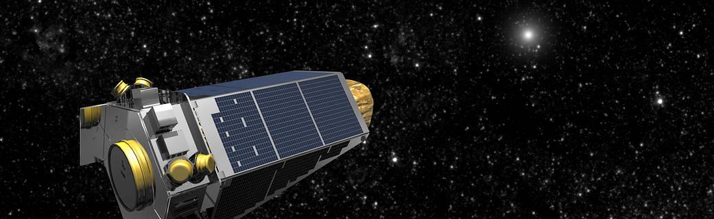 Ilustración de artista de la nave espacial Kepler en el espacio