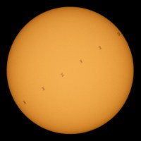 NASA -The Space Station's Solar Transit- June 25, 2020