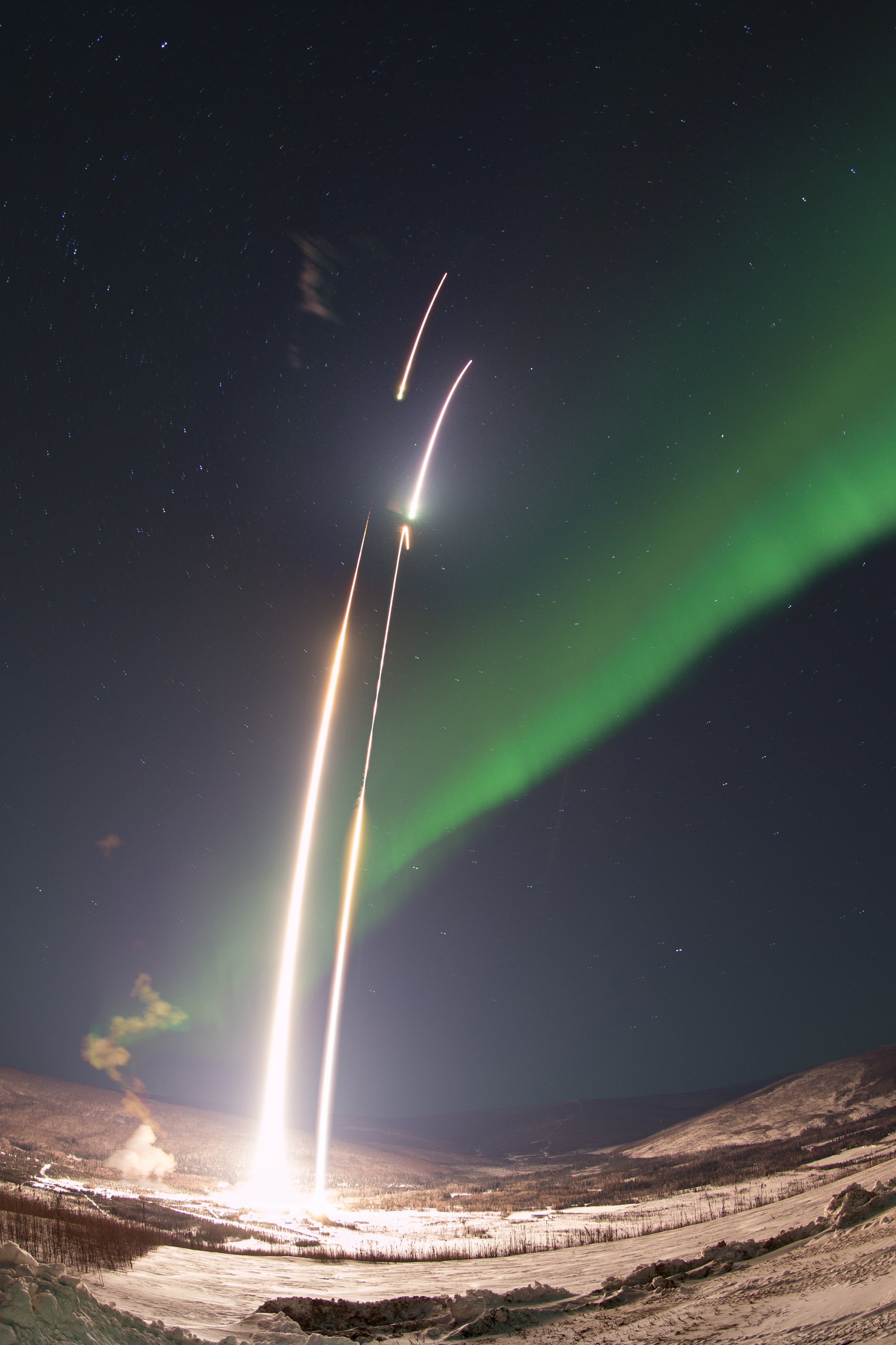 Three Rockets Launched Within Hours Explore Auroras Over