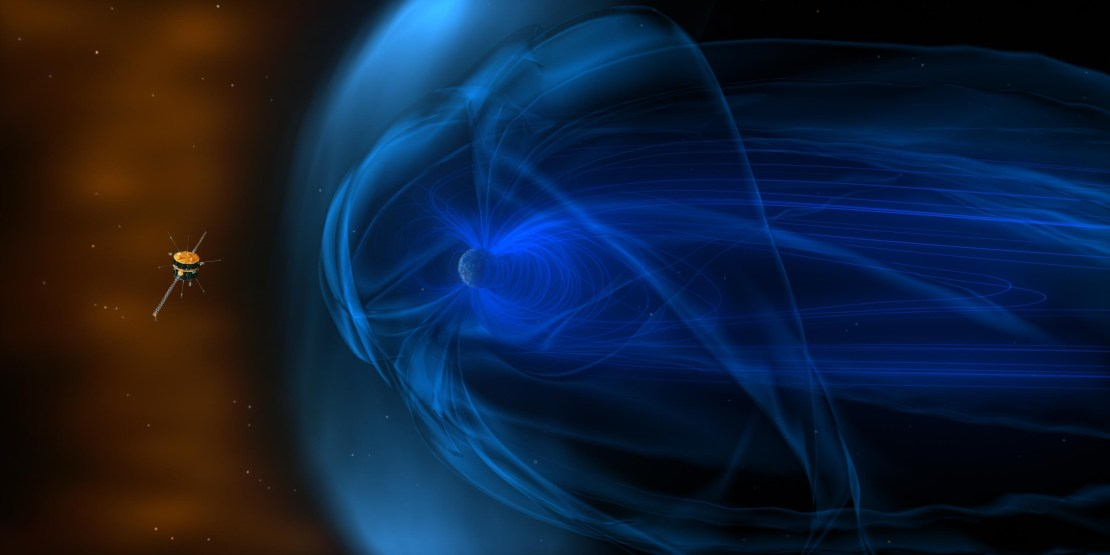 Wind spacecraft and Earth's magnetosphere
