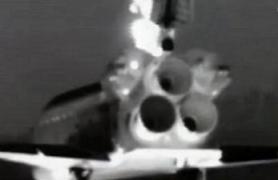 Visione dell'orbiter tramite la camera termica