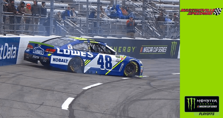 Jimmie Johnson spins in Martinsville qualifying | NASCAR.com