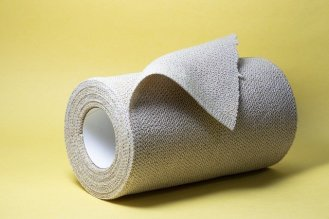 A roll of bandage gauze