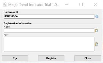 MagicTrend Indicator 1.2.2 Trial MessageFull