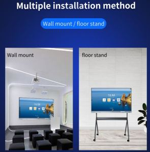 Installation option for interactive display screens