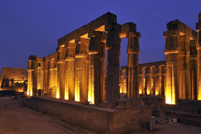Sound and light show Karnak Temple