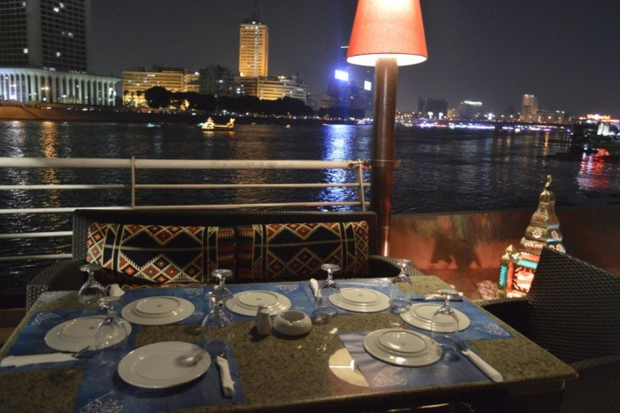Dinner onboard Nile Maxim