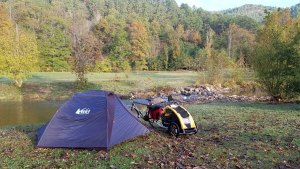 Campsite at the Chief Ladiga Trail Campground in the Talladega National Forest.